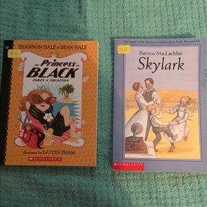 5/$20 2 Girl Books 3rd Grade Skylark Princess EUC